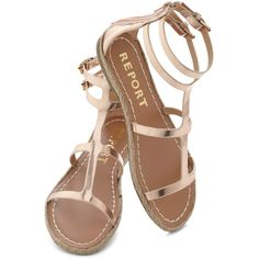 Ships Alloy Sandal ($35) ❤ liked on Polyvore featuring shoes, sandals, flats, sapatos, synthetic shoes, flat heel shoes, flat shoes, flats sandals and flat pumps