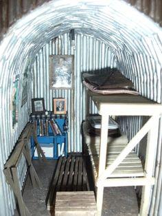 Image result for bomb shelter shelves world war 2 home