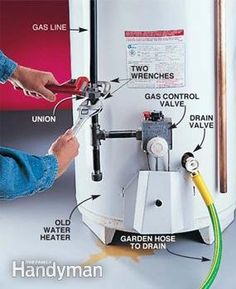 DIY Water Heater Installation How to install a new gas water heater Water Heater Installation, Plumbing Installation, Home Fix, Diy Home Repair, Water Lighting, Light Water, Lighting Ideas, Home Repairs, Pex Tubing