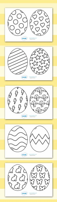 Twinkl Resources >> Easter Egg Templates >> Printable resources for…