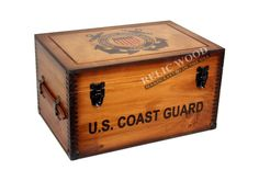 Custom Military Gifts | US Coast Guard | Custom Wooden Boxes