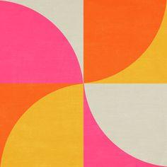mod petals - summer Art Print by herart Motif Vintage, Illustration Art, Illustrations, Mellow Yellow, Summer Art, Geometric Art, Wall Collage, Design Art, Abstract Art