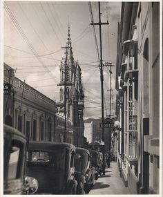 Esquina de Mijares a Santa Capilla caracas año 1939