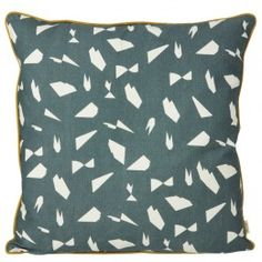 Ferm LIVING Mini Cut Cushion, Hand Printed, Green