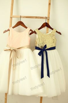 Adorable dresses for the flower girls - so cute! #wedding #dress #gold…