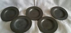 5 x Antique London Pewter plates touchmark hall marked Pewter Plates, Silver Plate, Metals, London, Antiques, Tableware, Ebay, Antiquities, Antique