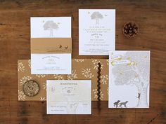 Magnolia Rouge: Oak Tree Invitations by Ruby and Willow #weddinginvitations #weddingstationery #invitations