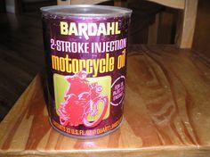 Vintage Bardahl Oil Racing 1qt Metal Can Full 2-stroke Motorcycle Oil Ahrma