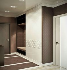 MUDROOM: seat behind the door on the left across the washroom and the remaining left wall floor to sealing storage Entry Closet, Entry Hall, Entrance Decor, House Entrance, Neoclassical Interior, Flur Design, Hallway Designs, Luxury Sofa, Home Decor Furniture