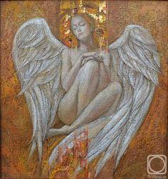 Diy Angel Wings, Feather Angel Wings, Angels Among Us, Angels And Demons, Deviant Art, Seraph Angel, Angel Artwork, Spiritual Paintings, Bird People