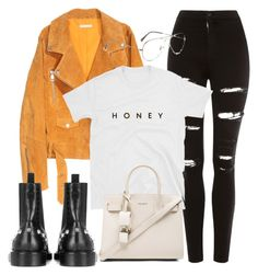"""Untitled #3993"" by camilae97 ❤ liked on Polyvore featuring SKINN, Topshop, Yves Saint Laurent, Balenciaga and Ray-Ban"