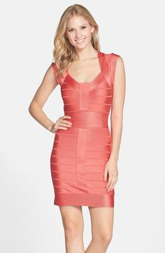 French Connection 'Miami Spotlight' Cap Sleeve Bandage Dress available at #Nordstrom