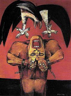 ang kiukok paintings | Ang Kiukok's work is distinct.
