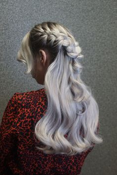Platinum icy blonde hair by Asuman Icy Blonde, Platinum Blonde Hair, About Hair, Cut And Color, Hair Color, Dreadlocks, Hair Styles, Beauty, Hair Plait Styles