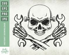 Gear Head Tattoo, Rose Drawing Tattoo, Tattoo Drawings, Mechanic Tattoo, Tattoos For Women Half Sleeve, Doodle Tattoo, Skull Art, Skull Stencil, Eps Vector