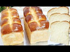 PÃO TIPO BRIOCHE FOFINHO - RECEITA FÁCIL E PRÁTICA - YouTube Pasta, Hot Dog Buns, Cheesecake, Food And Drink, Bread, Desserts, Youtube, Zebra Cakes, Wafer Cookies