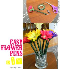 Very cute these flower pens, also a good birthday gift for the teacher :D