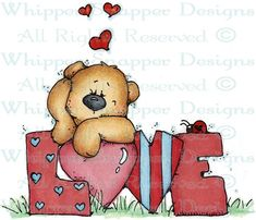 Love Bear - Bears - Animals - Rubber Stamps - Shop