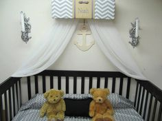 Crib Canopy Boy Crown Prince Gray Grey Tan Padded FREE Embroiderd Monogram initial Gender neutral Bedroom decor nursery So Zoey Custom Gender Neutral Bedrooms, Neutral Bedroom Decor, Chevron, Custom Canopy, Prince, Small Shelves, Toy Organization, Desk Set, Queen Beds