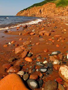 Red River Beach, Cape Breton, Nova Scotia, Canada by Sandra Westbrooks O Canada, Canada Travel, Quebec, Nova Scotia Travel, Cabot Trail, Alaska, East Coast Travel, Atlantic Canada, Cape Breton