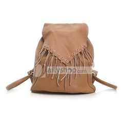 cow leather women's backpack