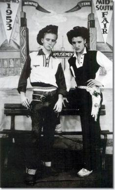 Elvis Presley and friend.