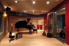 Ideas Music Studio Room Design Home Home Studio Musik, Music Studio Room, Studio Room Design, Home Music Rooms, House Music, Band Rooms, Recording Studio Design, Music Recording Studio, Recorder Music