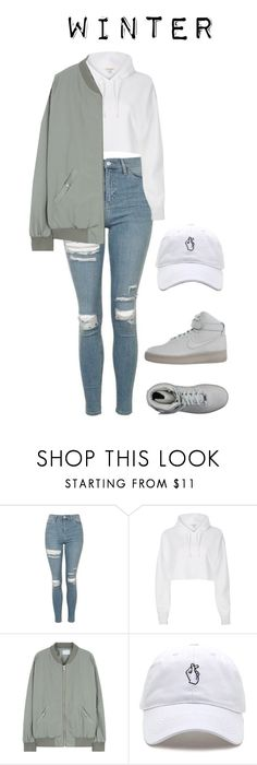 """Jackson's ideal type (winter)"" by got7outfits ❤ liked on Polyvore featuring Topshop, River Island and NIKE"