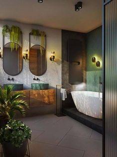 Creative Tricks Can Change Your Life: Natural Home Decor Feng Shui Spaces natura… Small Bathroom Interior, Modern Bathroom, Design Bathroom, Japan Bathroom, Nature Bathroom, Modern Bathtub, Stone Bathroom, Classic Bathroom, Simple Bathroom
