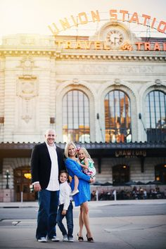 Denver CO Photographer - urban family photography - union station family session - natural light photography