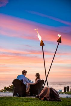 A dinner for two with a view was the ideal setting for these two @Mandy Dewey Seasons Resort Punta Mita, Mexico newlyweds.