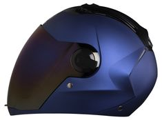 Retro Motorcycle Helmets, Motorcycle Outfit, Yamaha, Blue, Hard Hats, Motorbikes, Motorcycle Suit