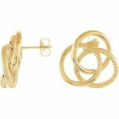 Elegant and Stylish Pair of 19.50X20.75 MM 14K Yellow Gold Clad Sterling Silver Knot Earrings with Backs in sterling Silver , 100% Satisfaction Guaranteed. Banvari. $102.03. All our gold items are responsibly sourced and the majority is made from environmentally processed recycled gold.. 30-day money back guarantee.. Free Priority Shipping.. This product comes with a FREE contemporary Gift Box.. All diamonds used in our jewelry are conflict free and 100% in com...