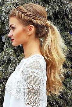 Party Perfect Pony Tail Hairstyles For Your Big Day ❤ See more: http://www.weddingforward.com/pony-tail-hairstyles/ #weddings