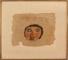 Two Coptic Textile Face Fragments  Possibly Egyptian.