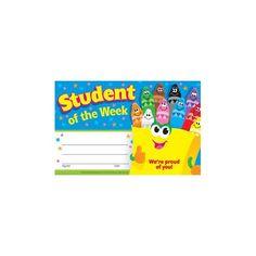 Student of the Week Diplomas