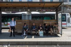 Трамвайная остановка. Лион (Франция)