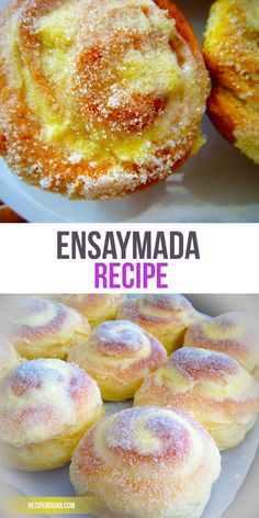 This Ensaymada recipe includes flour, cheese, butter, honey, salt, water, white…