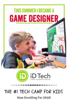 Learn how to make your own video game. Summer Camps For Kids, Camping With Kids, Summer Kids, Fun Learning, Teaching Kids, Educational Activities, Activities For Kids, Montessori, Video Game Development
