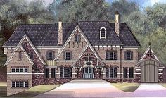 <ul><li>Everything about this stately home plan speaks of timeless style and hospitable warmth. The noble stone and brick exterior is accented with wood beams, unique chimneys and crimped copper roofing. </li><li>Other prestigious amenities, such as a combination study and library, first floor guest suite, spectacular dining hall, a wine cellar, a practical and sizable home office and a large home theatre, abound throughout the house. </li><li>Many rooms have been graced with elegant and…