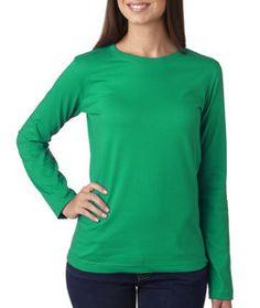 LA T Ladies' Long-Sleeve T-Shirt 3588 Kelly