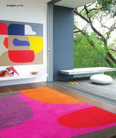 Stephen Ormandy painting and Dinosaur Designs rug