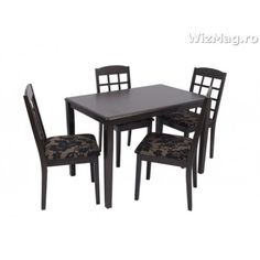 Masa bucatarie WIZ cu scaune mbs-4 Dining Chairs, Dining Table, Furniture, Home Decor, Decoration Home, Room Decor, Dinner Table, Dining Chair, Home Furnishings