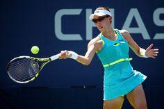 8/29/16 Saisai Zheng advances to US Open R2 - def. Monica Puig 6-4, 6-2.