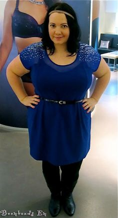 Blue Roxanne Dress by City Chic as worn by blogger Em! Fashion | Plus Size