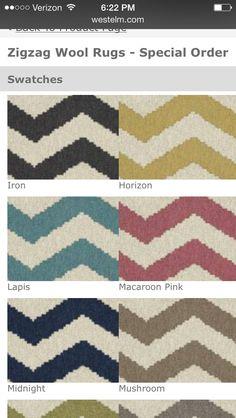 West elm- custom order zigzag rug