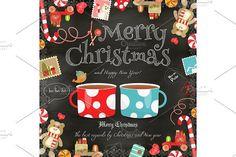 Christmas card. Wooden #christmas #coffee