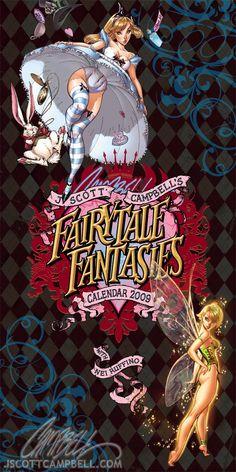 JSC's FairyTale Calendar 2010 by *J-Scott-Campbell on deviantART