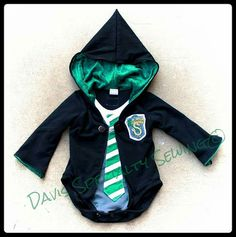 First Year Robe Slytherin Custom by DavisSpecialtySewing on Etsy Harry Potter Baby Clothes, Maybe Someday, First Year, Slytherin, Baby Room, Nursery, Future, Trending Outfits, Awesome