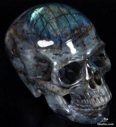 Labradorite Crystal Skull